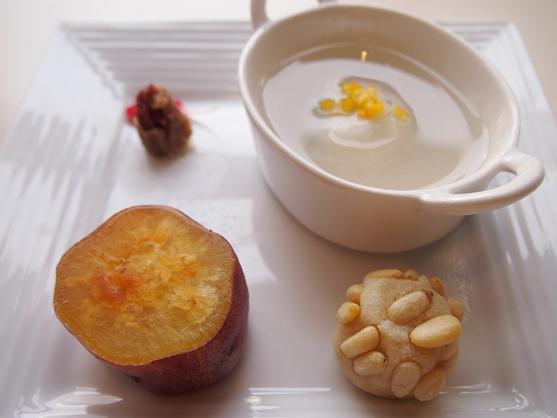 芋とナッツのデザート_e0148373_1638222.jpg
