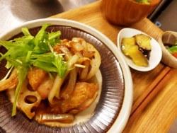 11/21晩ごはん:鶏モモ肉の柚子胡椒焼き_a0116684_19585666.jpg