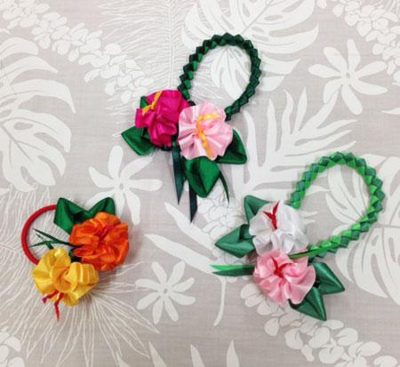 Hibiscus Magnet Charm & hair tie ハイビスカス マグネットチャーム&ヘアゴム_c0196240_14475821.jpg