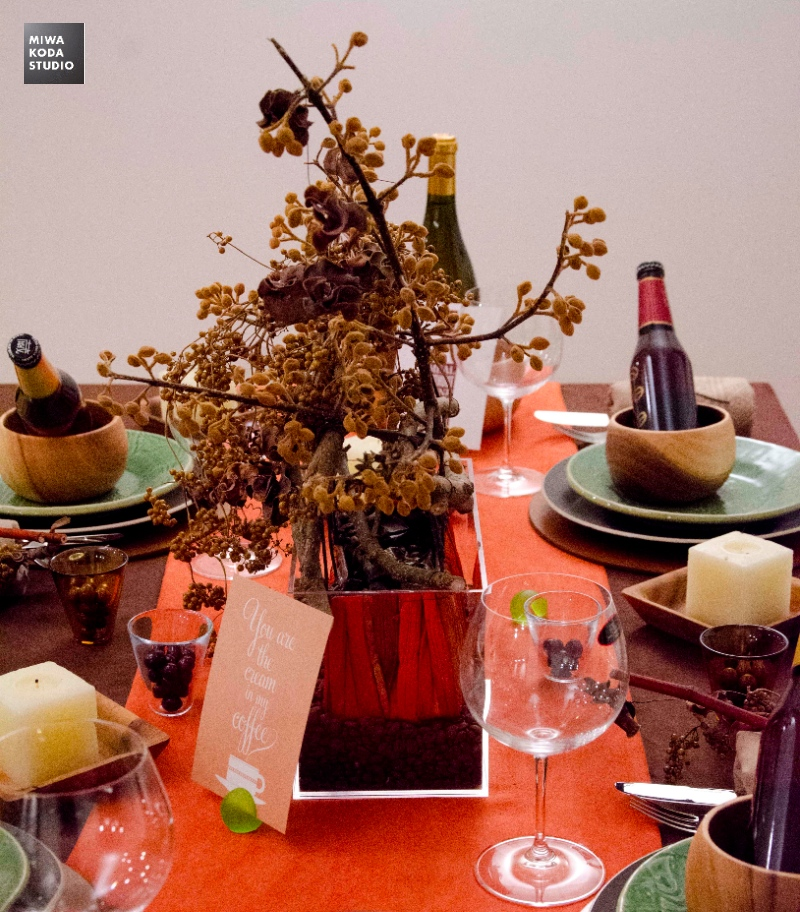 November 24, 2013 Thanksgivingのテーブル『お花』Thanksgiving Dinner 'Flower'_a0307186_7514828.jpg