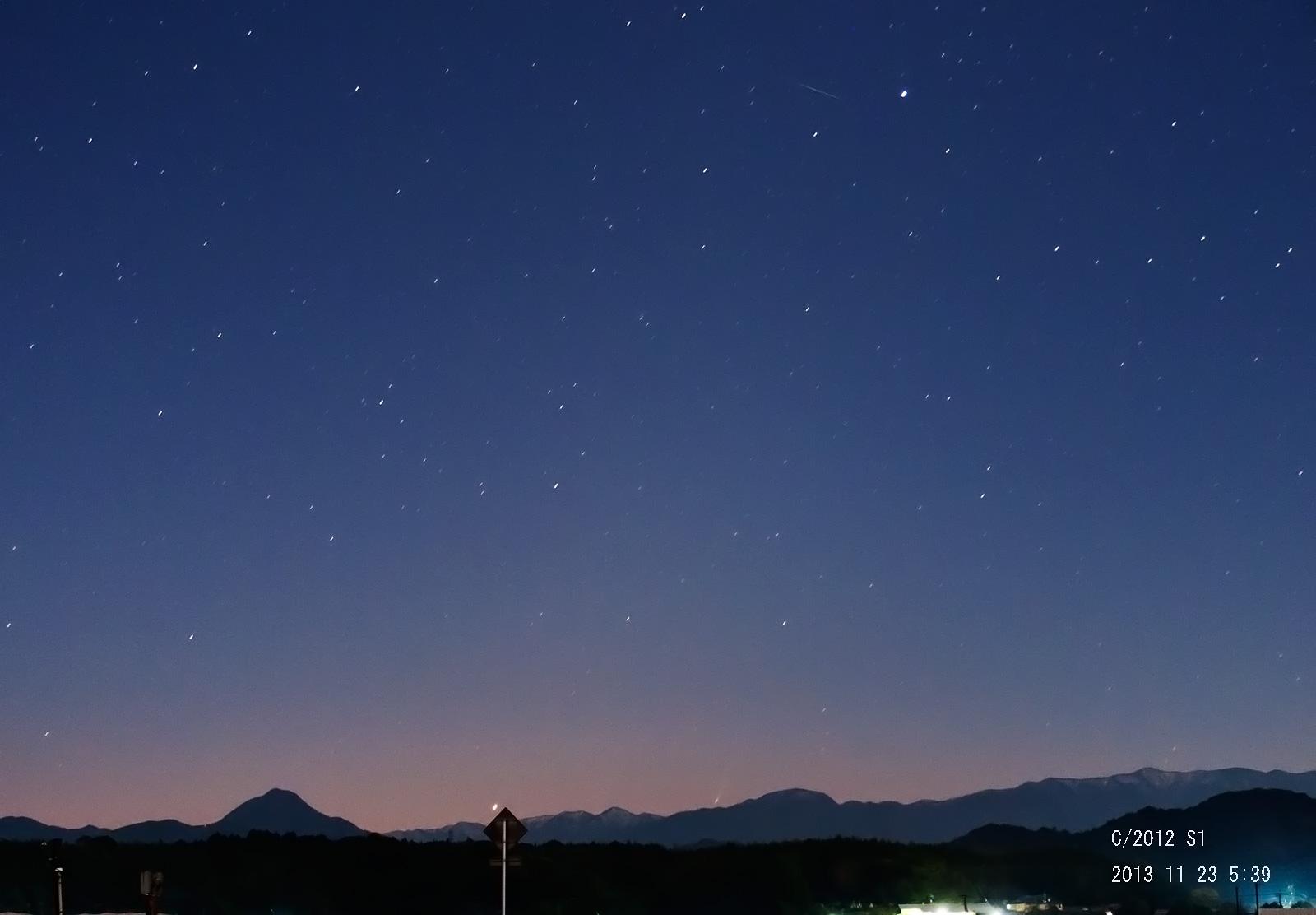 11月23日のアイソン彗星_e0174091_09164910.jpg