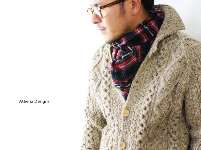 Athena Designs [アテナデザイン] 2s+CLR CARDIGAN WITH COLLAR [カラーカーディガン] _f0051306_1641185.jpg
