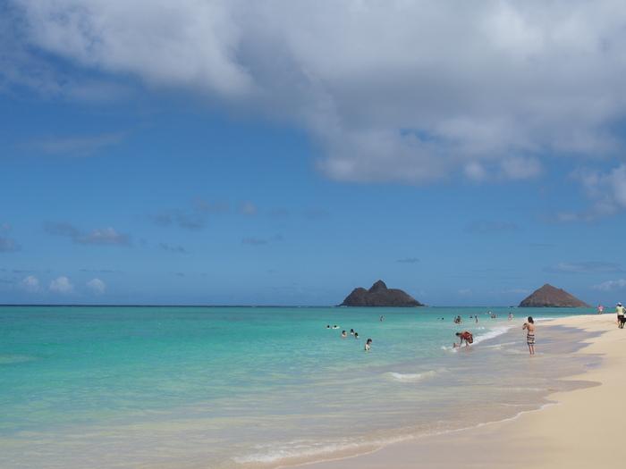 2013 10月 ハワイ(31)  ラニカイビーチへ  幸せ〜_f0062122_165529.jpg