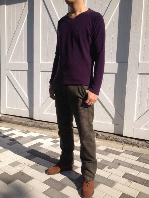 暖かい!洗えるウールのパイル編みTシャツ!_d0108933_13591412.jpg