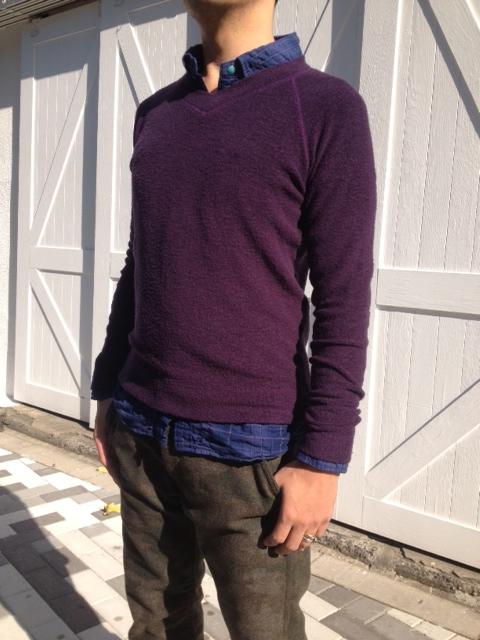 暖かい!洗えるウールのパイル編みTシャツ!_d0108933_13593010.jpg