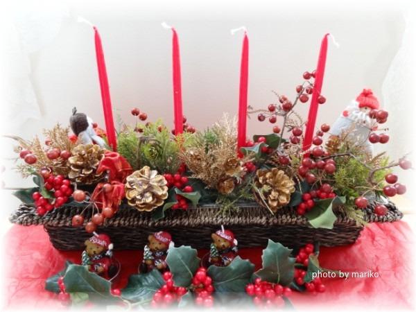 ☆クリスマスアレンジ作成_d0165645_11423544.jpg