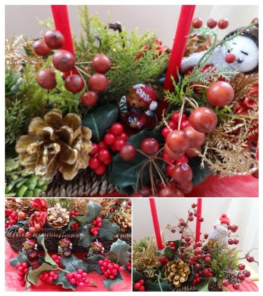 ☆クリスマスアレンジ作成_d0165645_11485463.jpg