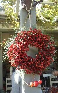 薔薇の実のリ―ス_a0122148_20571769.jpg