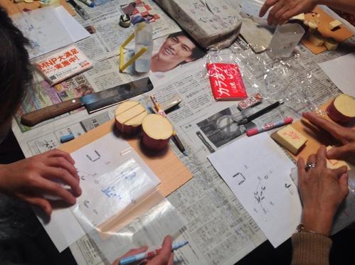 『絵更紗教室(ティッシュペーパーBOXカバー作り)』ご報告_b0153663_15284479.jpg