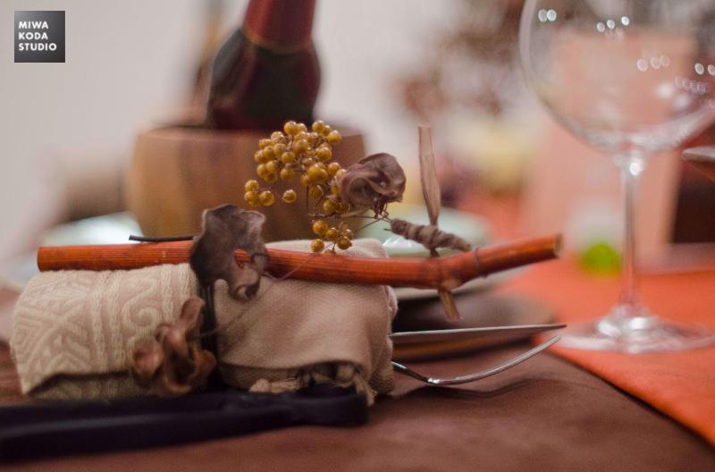 November 29, 2013 Thanksgivingのテーブル『カトラリー飾り』Thanksgiving Dinner 'Small Charm'_a0307186_624776.jpg