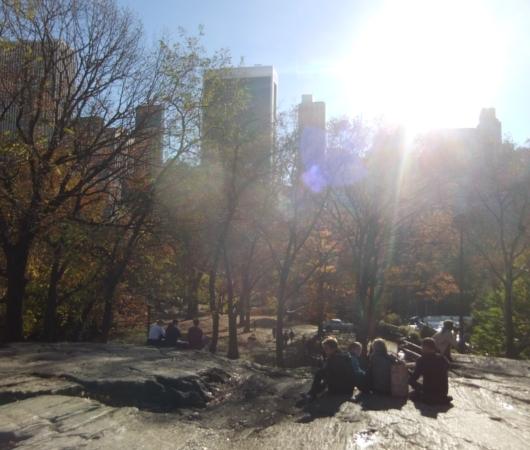 紅葉と摩天楼とスケートリンクを一望できるセントラルパークのオススメ写真スポット_b0007805_12552775.jpg
