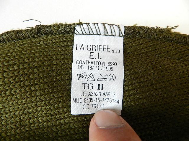 Italian army knit cap dead stock_f0226051_12372389.jpg
