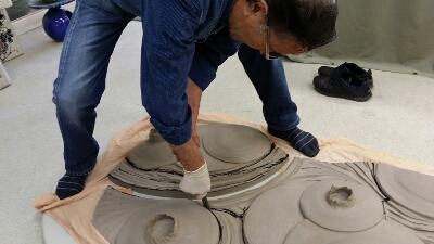 先日の陶板をカットしました。_b0205034_2252433.jpg