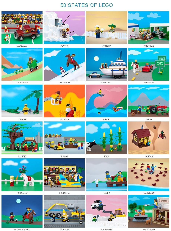 """全米50州をレゴ・ブロックで作った\""""50 STATES OF LEGO\"""" by Jeff Friesen_b0007805_910256.jpg"""