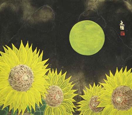 満月の花(The flower of a full moon )_e0224057_10111316.jpg