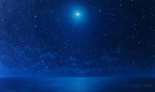 満月と星空の作品、完成しました!_b0240382_1685249.jpg