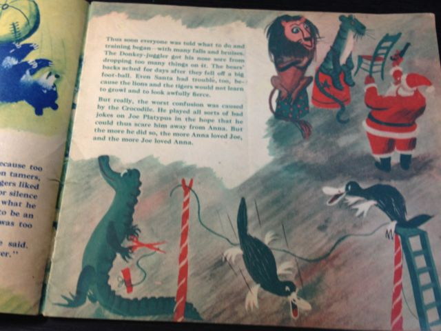 ロジャー・デュボアザンさんの「SANTA\'S CIRCUS」~クリスマスの絵本(其の二)_e0152493_23122358.jpg