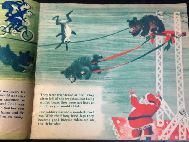 ロジャー・デュボアザンさんの「SANTA\'S CIRCUS」~クリスマスの絵本(其の二)_e0152493_23122567.jpg