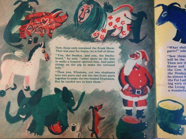 ロジャー・デュボアザンさんの「SANTA\'S CIRCUS」~クリスマスの絵本(其の二)_e0152493_23123131.jpg