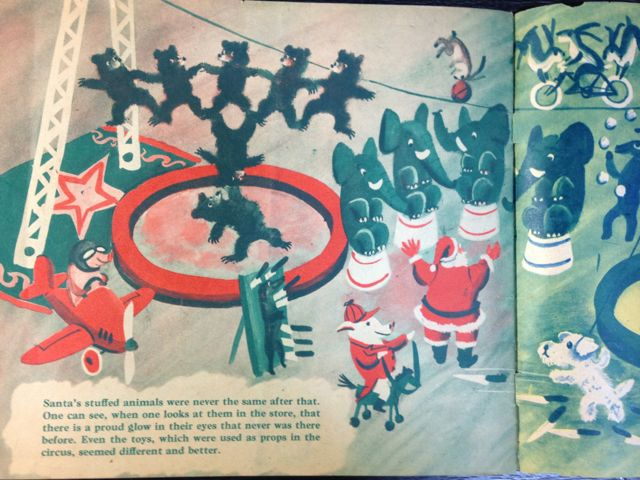 ロジャー・デュボアザンさんの「SANTA\'S CIRCUS」~クリスマスの絵本(其の二)_e0152493_23123365.jpg