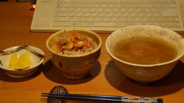 夕飯は味噌汁_e0166355_18375136.jpg