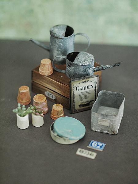 miniature*   ガーデン雑貨セット_c0224659_1847545.jpg