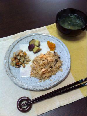 鮭とごぼうの炊き込みごはん_d0235108_8191573.jpg