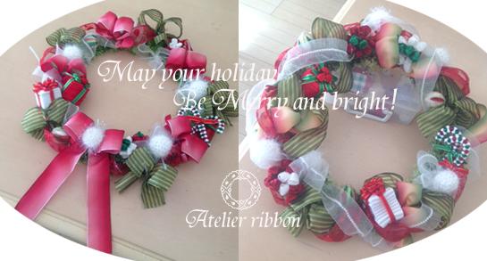 VeryMerryHoliday!Wreath 11/27&30*_f0017548_15532825.jpg