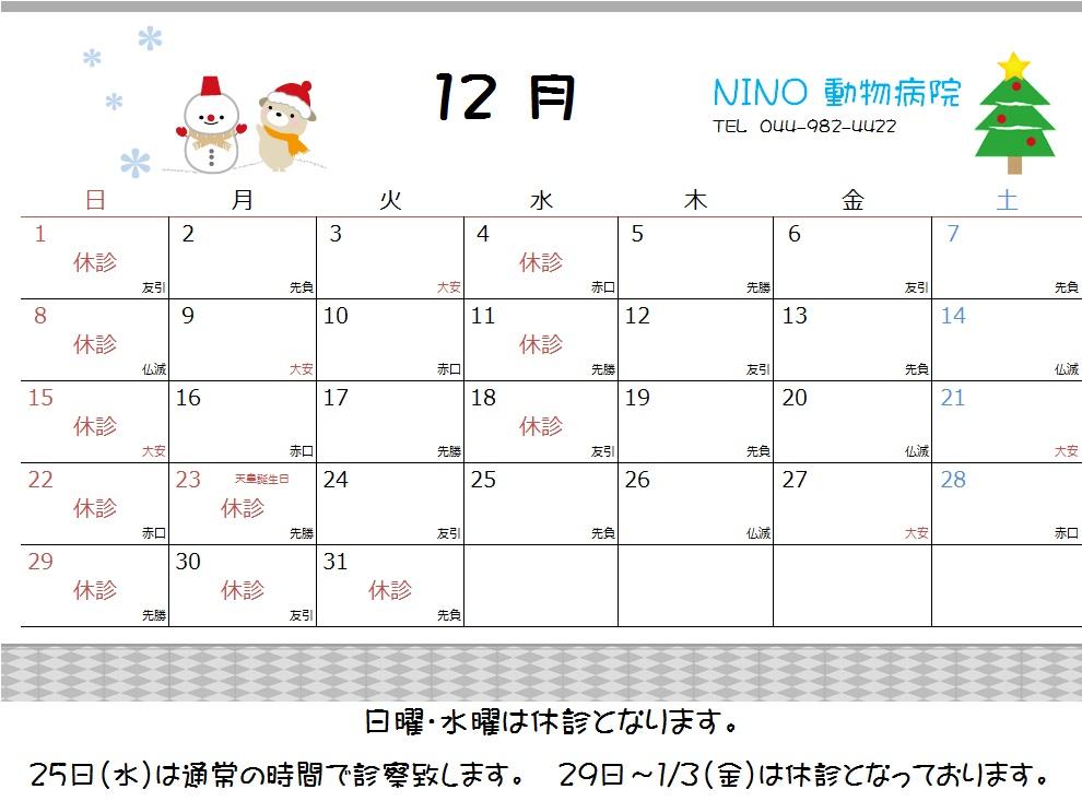 12月の休診日_e0288670_16362410.jpg