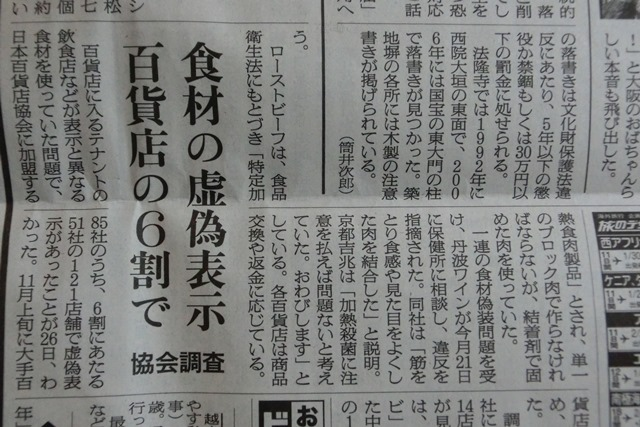 やってはいけない食品偽装これだけはやめて、なぜ食品偽装が起こる偽装をする、頑張れ橋下徹日本維新の会_d0181492_2334066.jpg