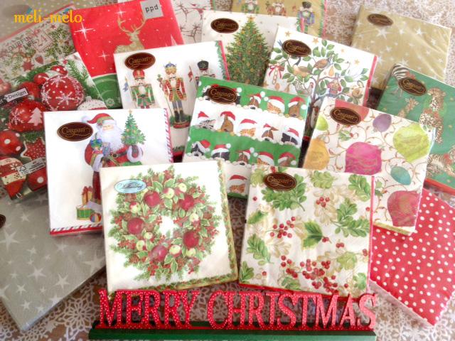 ◆クリスマス用ペーパーナプキンを入荷しました!_f0251032_12355676.jpg