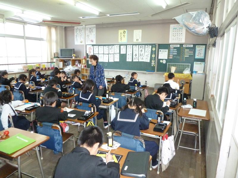 学校絵手紙行ってきました_e0246124_22465145.jpg