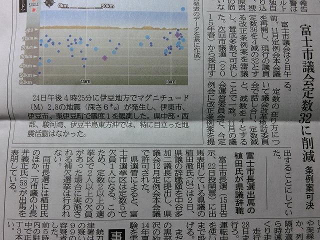富士市議会の定数4人削減と植田氏の県議辞職_f0141310_7373516.jpg