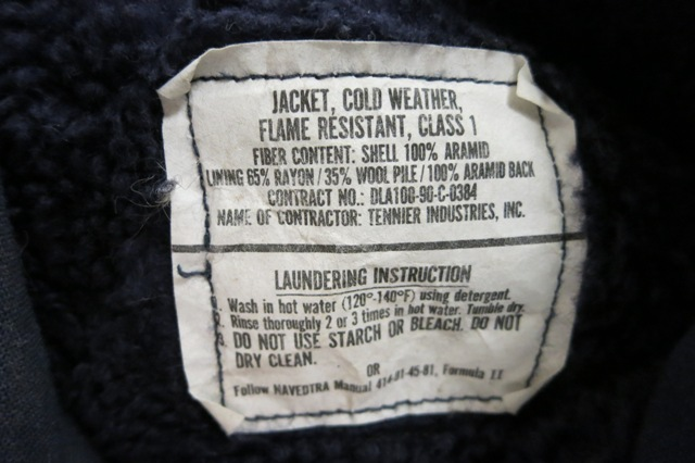 アメリカ仕入れ情報#5 A-2デッキジャケット ネイビーカラー_c0144020_13191294.jpg