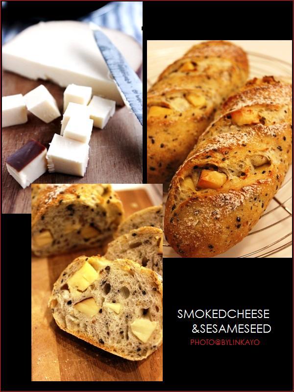 スモークチーズとごまのパン_b0225758_23112341.jpg