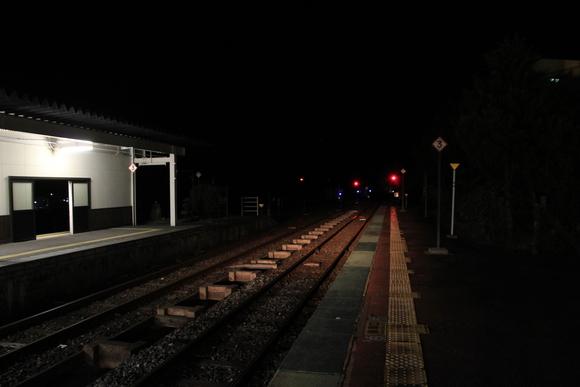 東北で美味しいご飯を食べる旅! 夜の鳴子温泉駅_d0202264_1937218.jpg