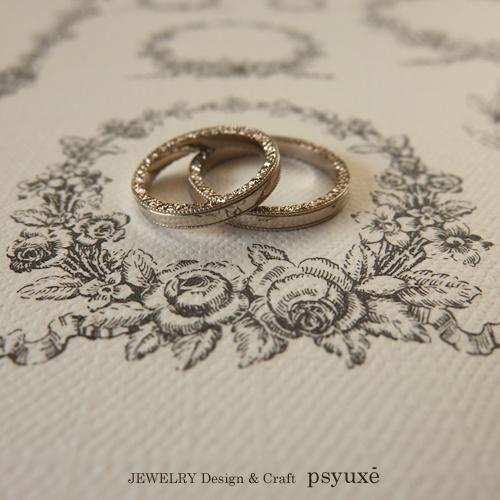 指輪の側面にのみ、洋彫りのある結婚指輪_e0131432_11123184.jpg
