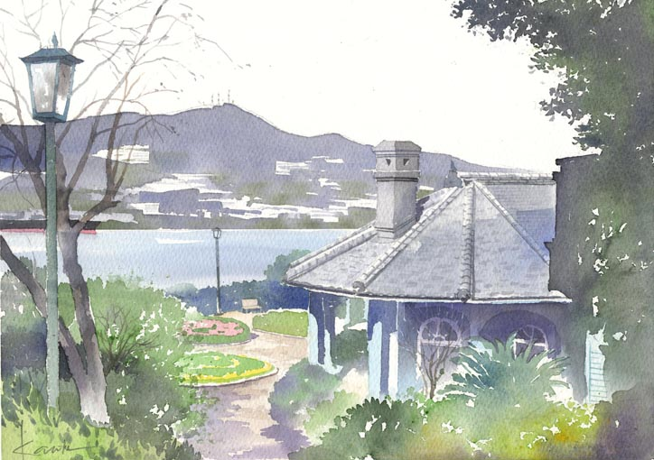 グラバー邸 水彩画_f0176370_13252398.jpg