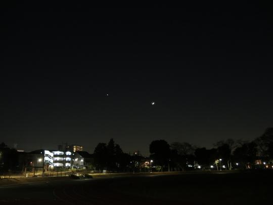 金星と三日月の接近_e0232277_10503265.jpg
