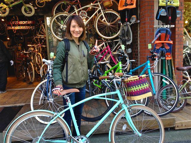 ☆今日のバイシクルガール5本立て☆ 自転車 女子 おしゃれ_b0212032_2192096.jpg