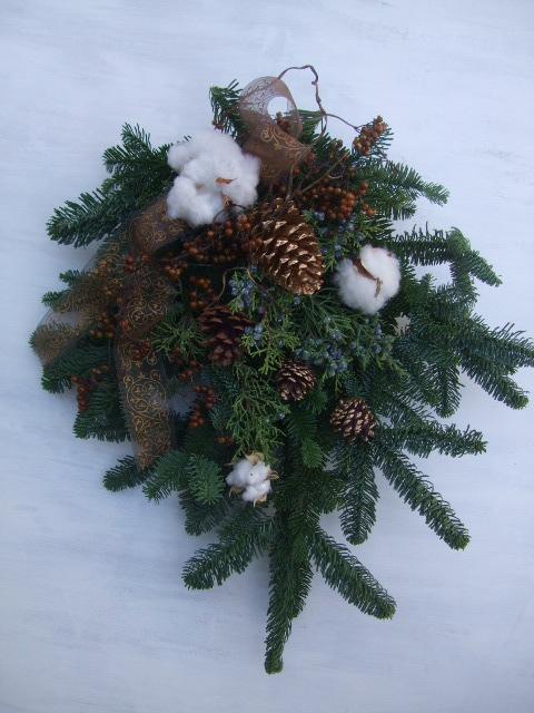 オークリーフ(今年のクリスマスリースⅡ)_f0049672_11191291.jpg