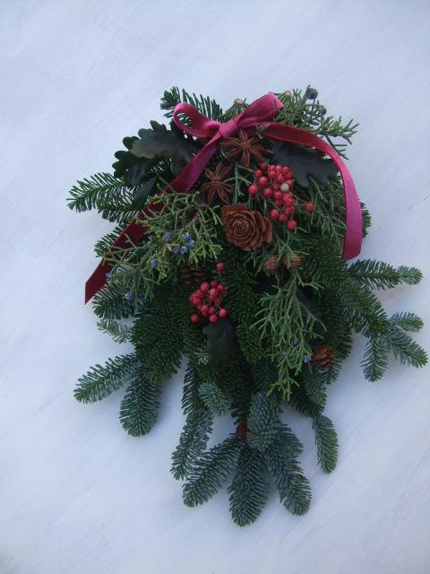 オークリーフ(今年のクリスマスリースⅡ)_f0049672_11214437.jpg