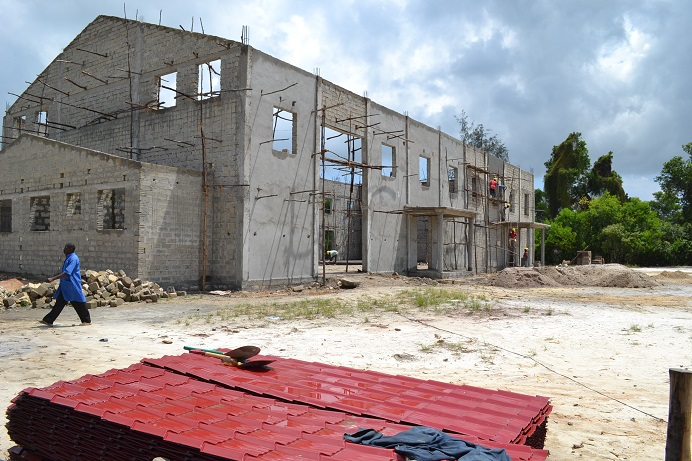 The construction of Pemba Budokan -14- ~ペンバ武道館建設の様子  _a0088841_2322980.jpg