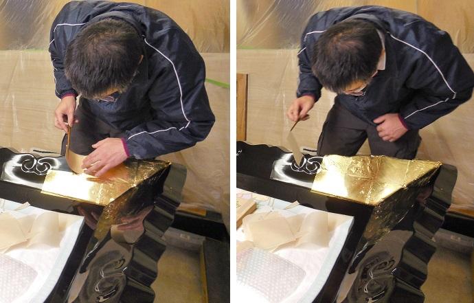 「冨士山大鳥居」神額の修復 その四 2013.12.08_c0213599_2128311.jpg
