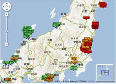 東日本の放射線量 / 全国のリアルタイム放射線量マップ_b0003330_0533755.jpg