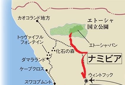 ナミビアの旅(39) エトーシャからウイントフックへ・・・そして帰国_c0011649_0294291.jpg