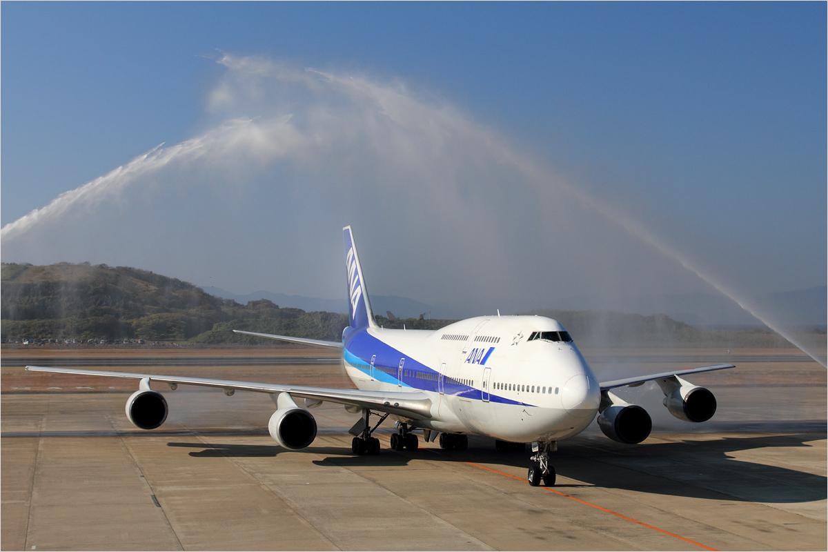 747里帰りフライト - 長崎空港_c0308259_0125316.jpg