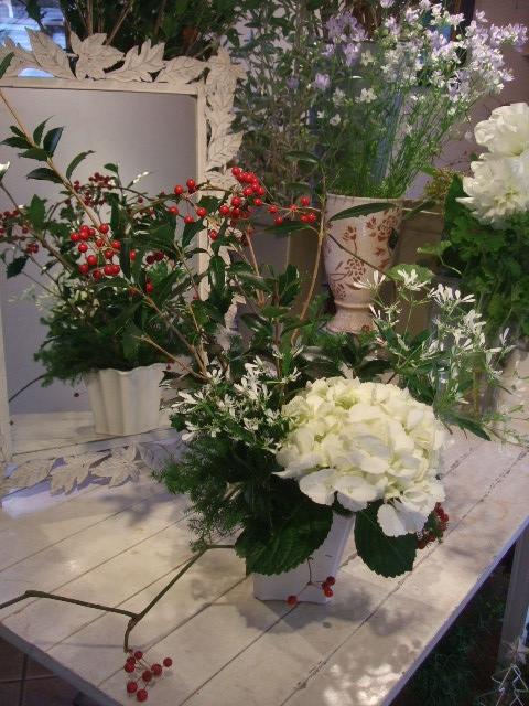 オークリーフ花の教室(赤地さんと宮原さんの作品)_f0049672_19144656.jpg