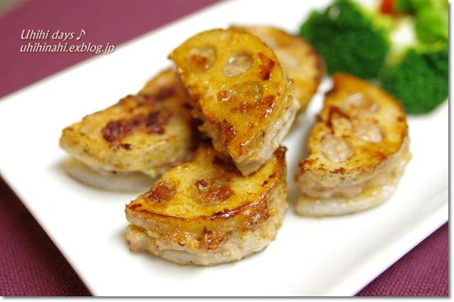 れんこんの肉はさみ照り焼き!_f0179404_21191951.jpg
