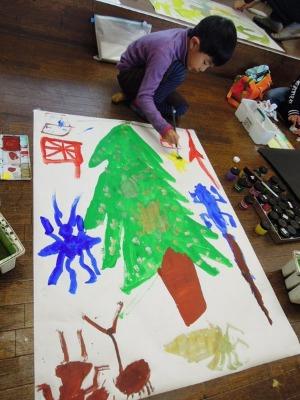 クリスマスビッグサイズの絵_d0322102_18503692.jpg
